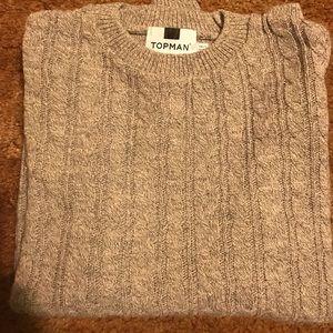 Topman cable-knit sweater. Xxs.